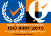 CERTIFIED MANAGEMENT SYSTEM - ISO 9001:2015